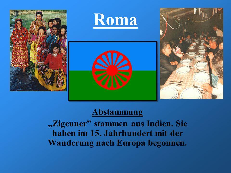 """Roma Abstammung. """"Zigeuner stammen aus Indien. Sie haben im 15."""