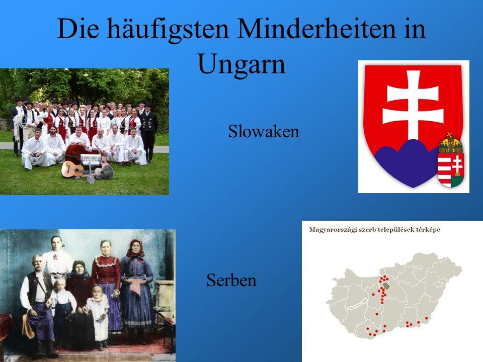 Die häufigsten Minderheiten in Ungarn