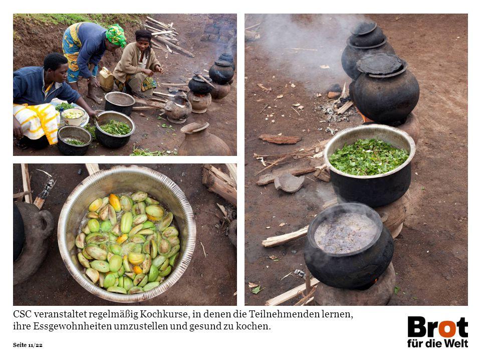 CSC veranstaltet regelmäßig Kochkurse, in denen die Teilnehmenden lernen, ihre Essgewohnheiten umzustellen und gesund zu kochen.
