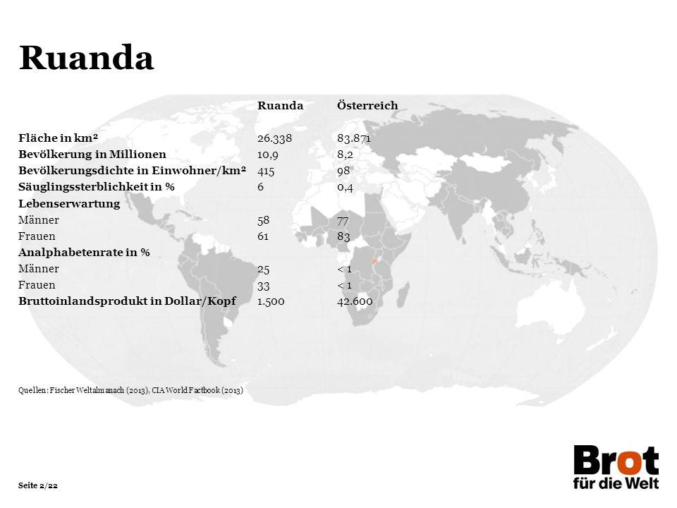 Ruanda Ruanda Österreich Fläche in km² 26.338 83.871
