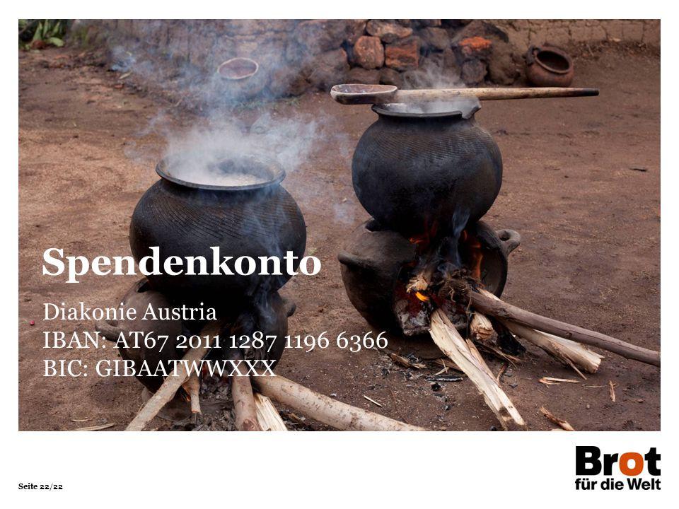 Spendenkonto Diakonie Austria IBAN: AT67 2011 1287 1196 6366