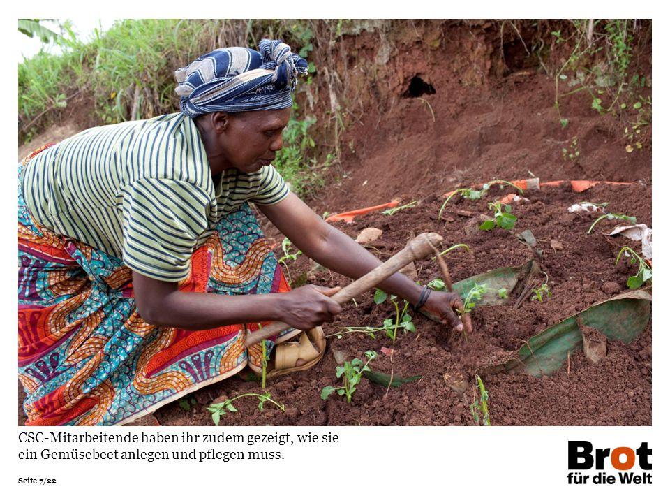 CSC-Mitarbeitende haben ihr zudem gezeigt, wie sie ein Gemüsebeet anlegen und pflegen muss.