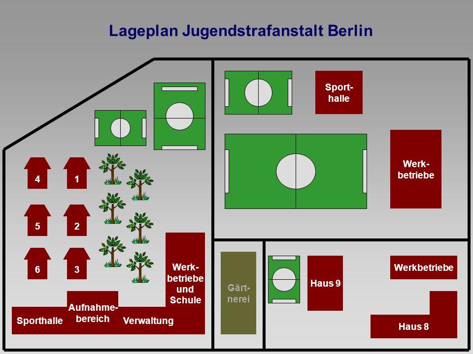 Lageplan Jugendstrafanstalt Berlin