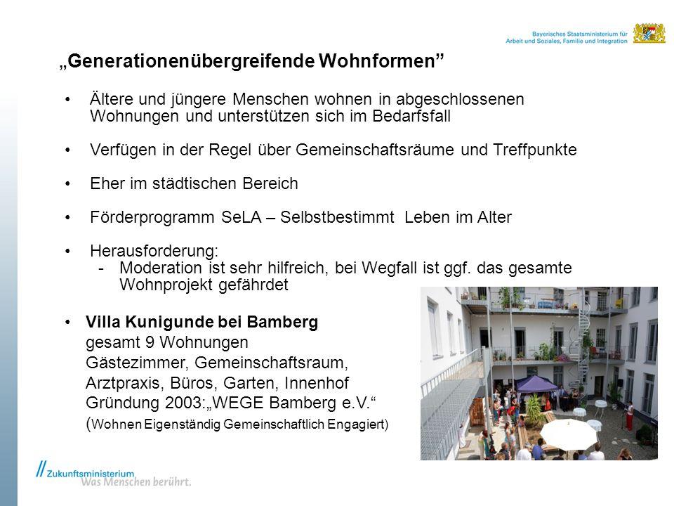 """""""Generationenübergreifende Wohnformen"""