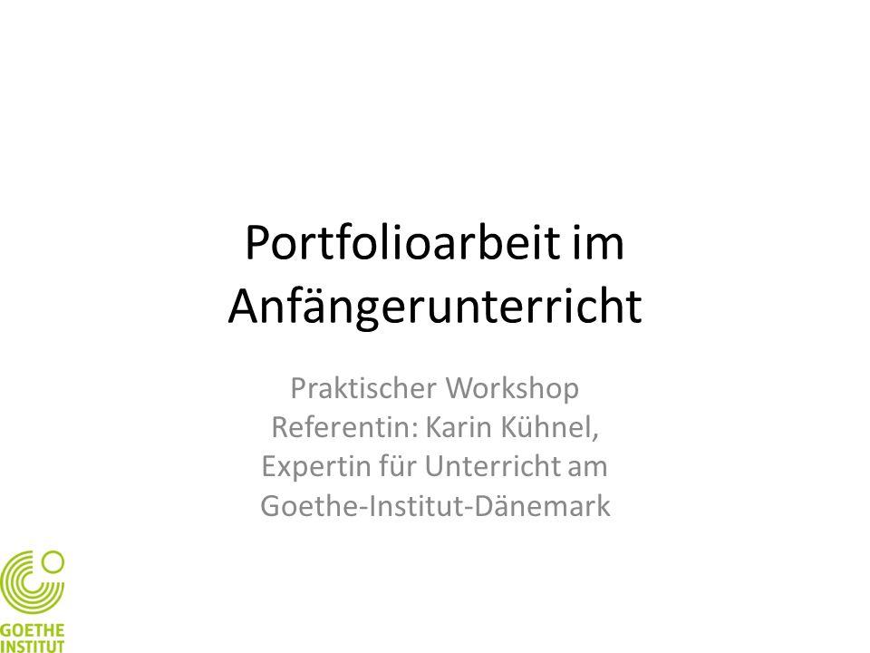 Portfolioarbeit im Anfängerunterricht