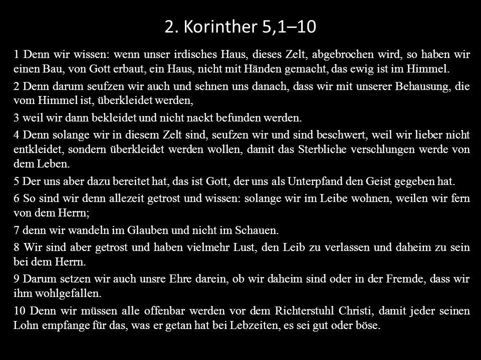 2. Korinther 5,1–10
