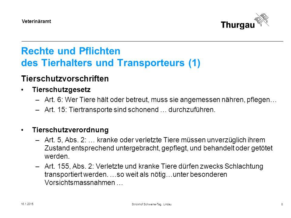 Rechte und Pflichten des Tierhalters und Transporteurs (1)