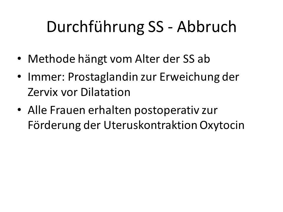 Durchführung SS - Abbruch