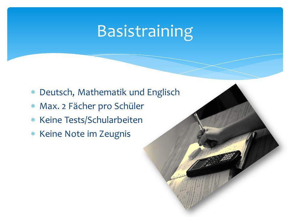 Basistraining Deutsch, Mathematik und Englisch