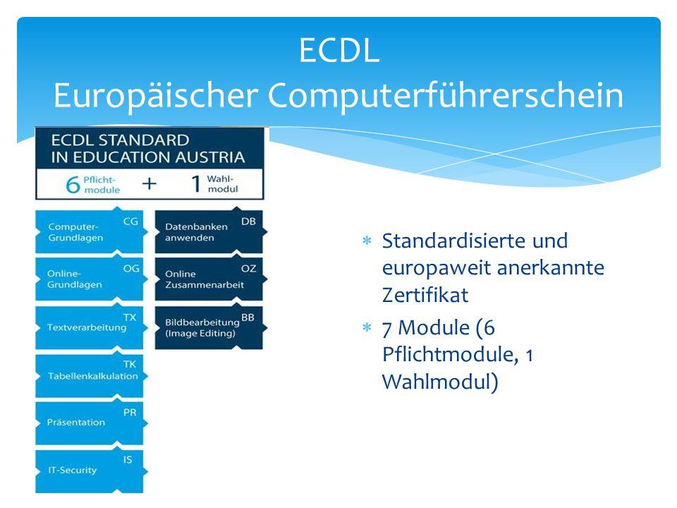 ECDL Europäischer Computerführerschein