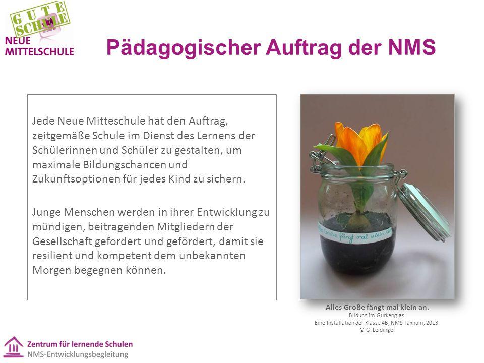 Pädagogischer Auftrag der NMS