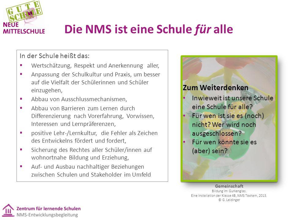 Die NMS ist eine Schule für alle