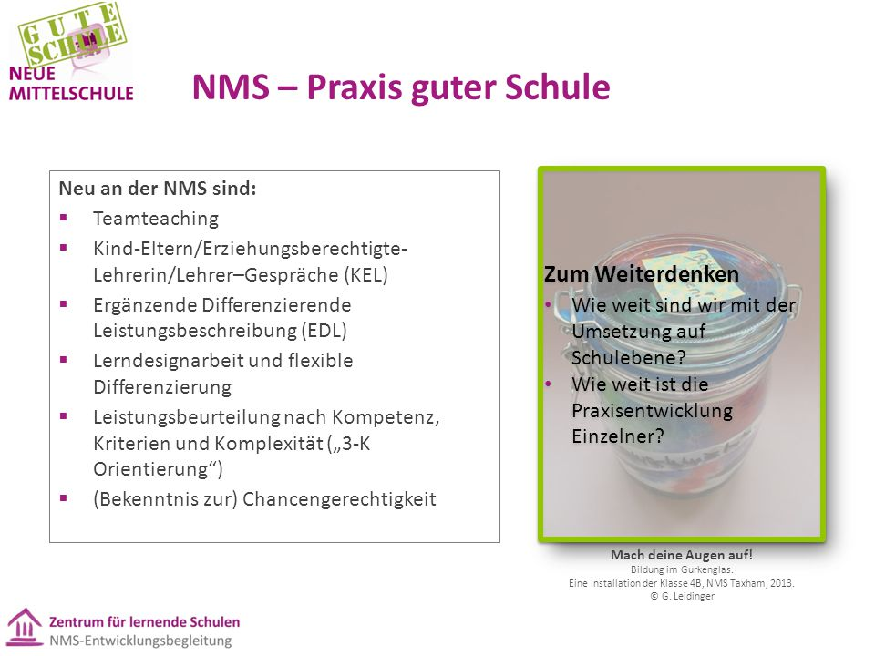 NMS – Praxis guter Schule