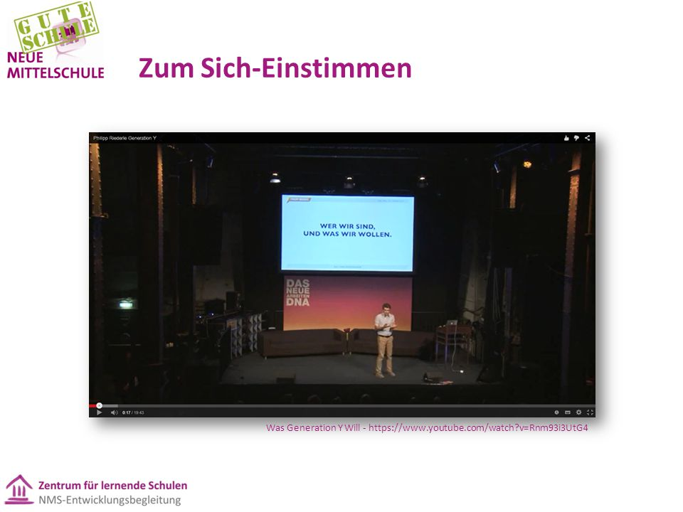 Zum Sich-Einstimmen Was Generation Y Will - https://www.youtube.com/watch v=Rnm93i3UtG4