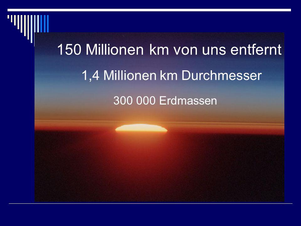 150 Millionen km von uns entfernt
