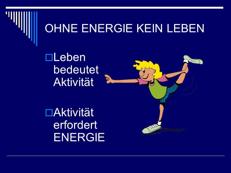 OHNE ENERGIE KEIN LEBEN