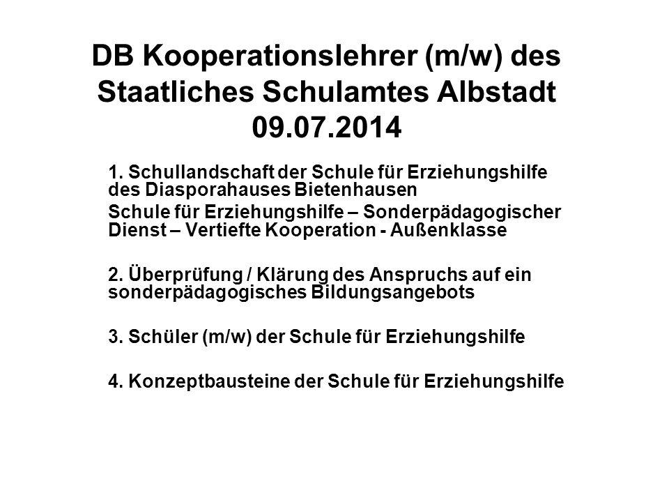 DB Kooperationslehrer (m/w) des Staatliches Schulamtes Albstadt 09. 07