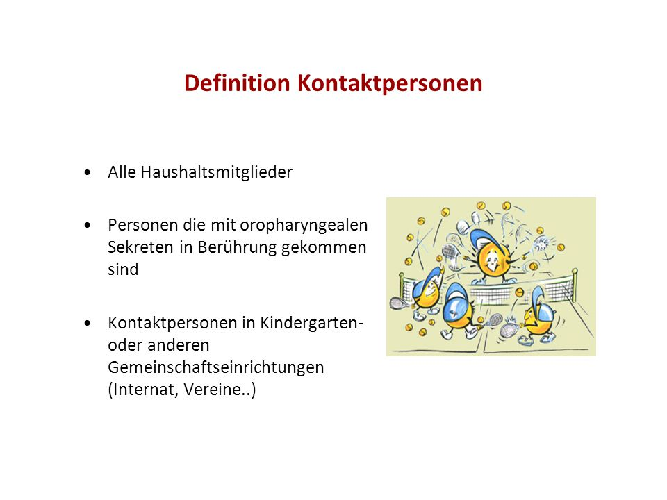 Definition Kontaktpersonen