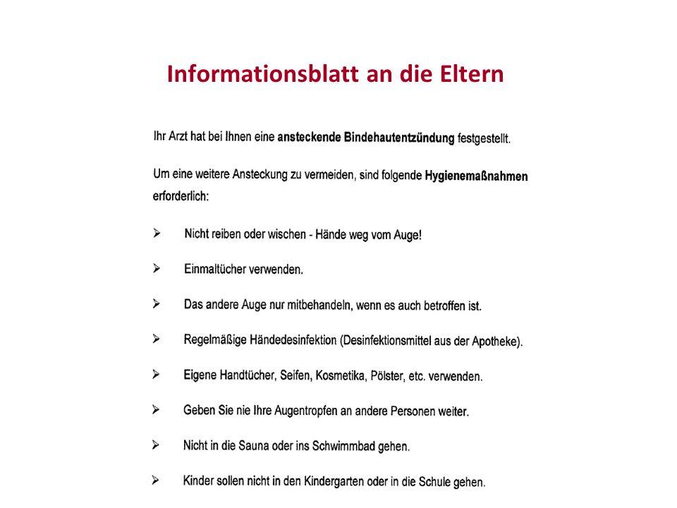Informationsblatt an die Eltern