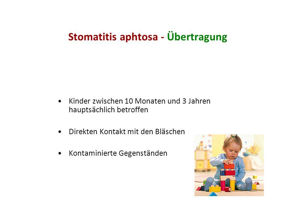Stomatitis aphtosa - Übertragung