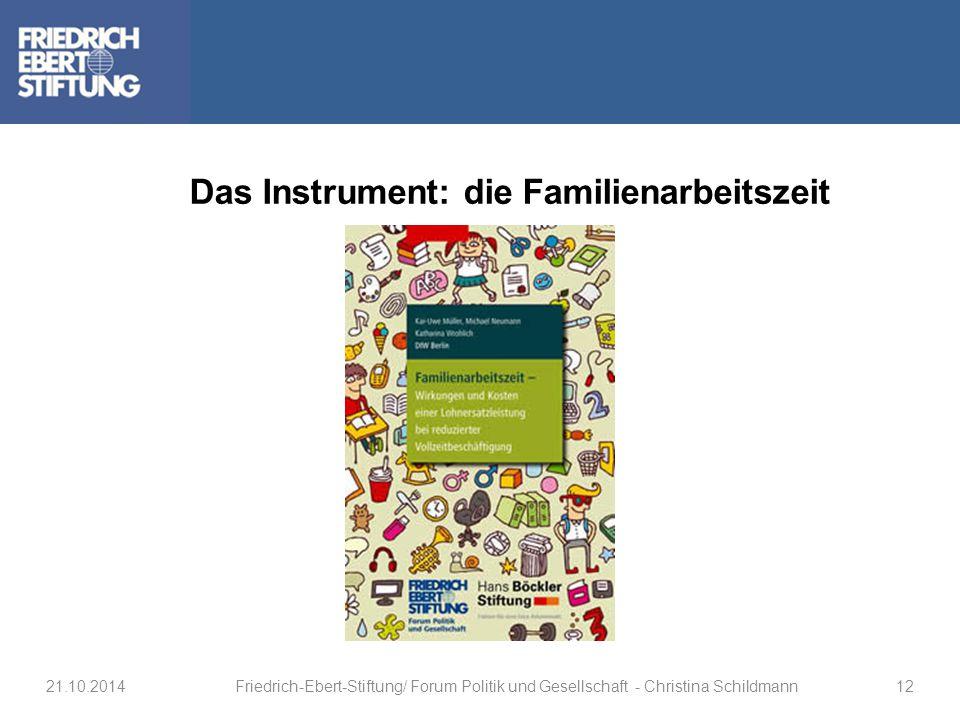 Das Instrument: die Familienarbeitszeit