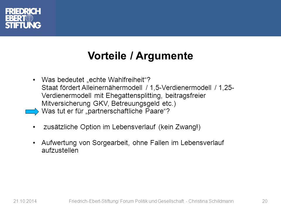 Vorteile / Argumente