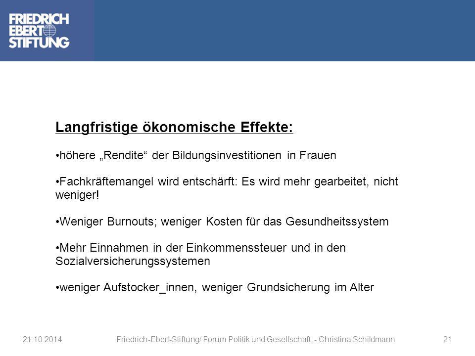 Langfristige ökonomische Effekte: