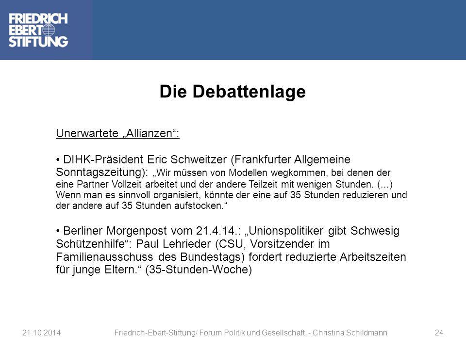 """Die Debattenlage Unerwartete """"Allianzen :"""