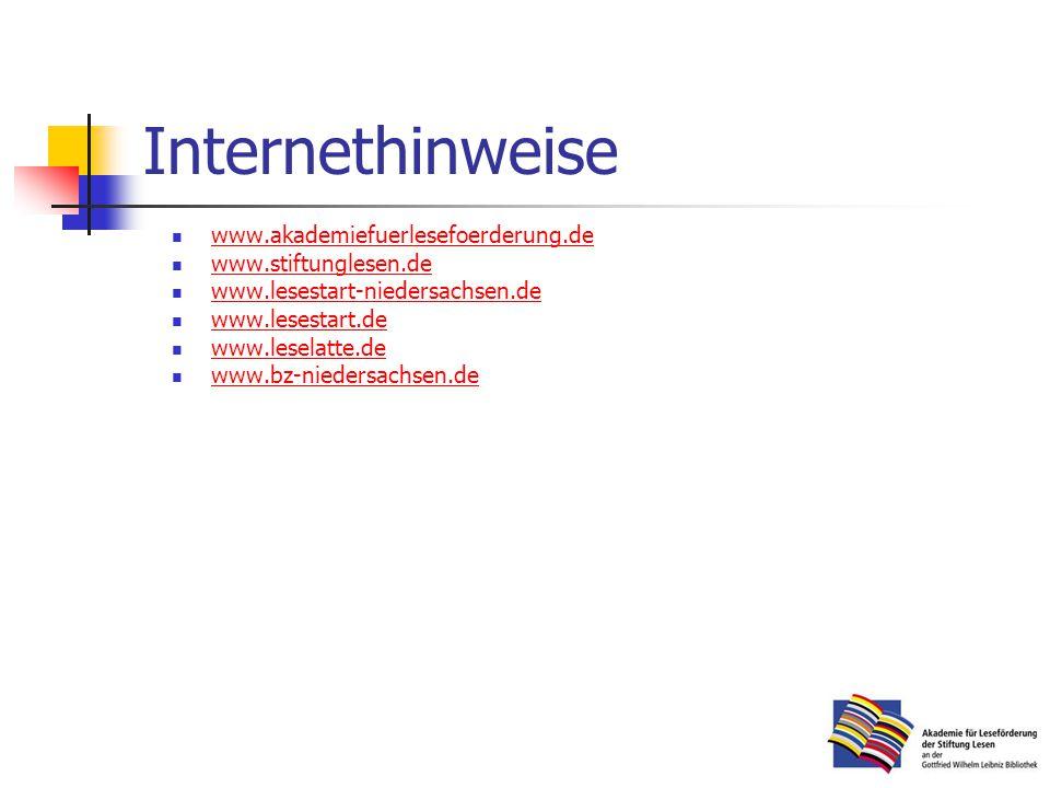 Internethinweise www.akademiefuerlesefoerderung.de