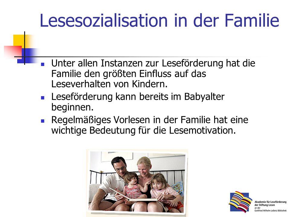 Lesesozialisation in der Familie