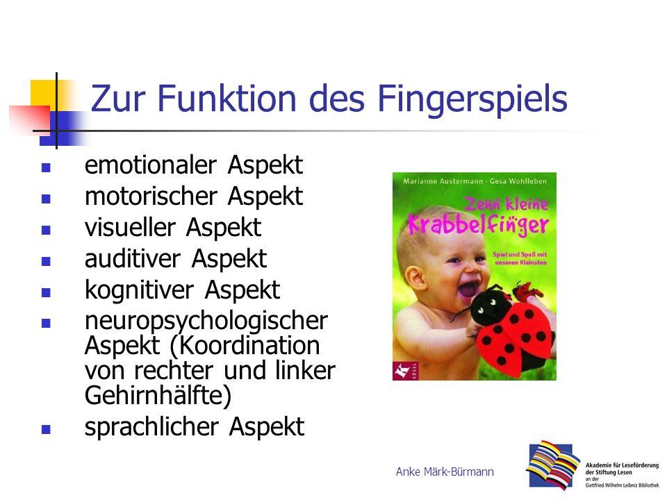Zur Funktion des Fingerspiels