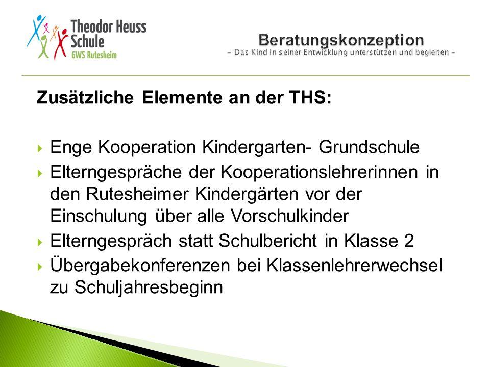 Zusätzliche Elemente an der THS: