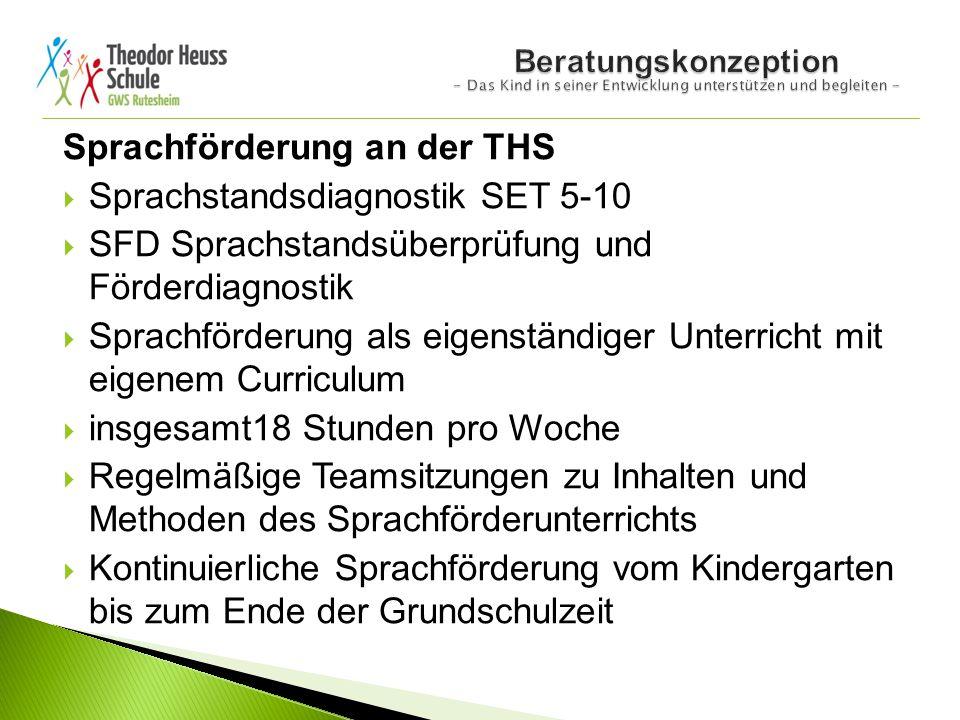 Sprachförderung an der THS Sprachstandsdiagnostik SET 5-10