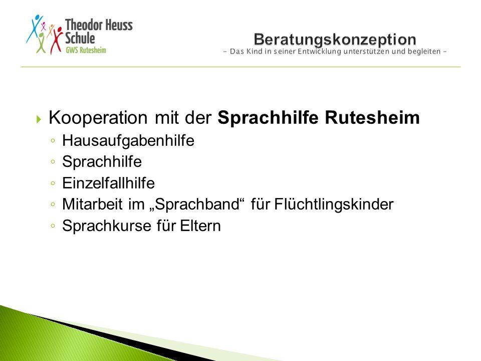 Kooperation mit der Sprachhilfe Rutesheim