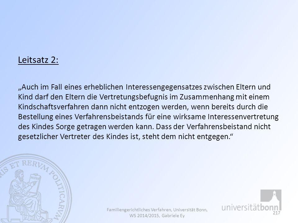 Leitsatz 2: