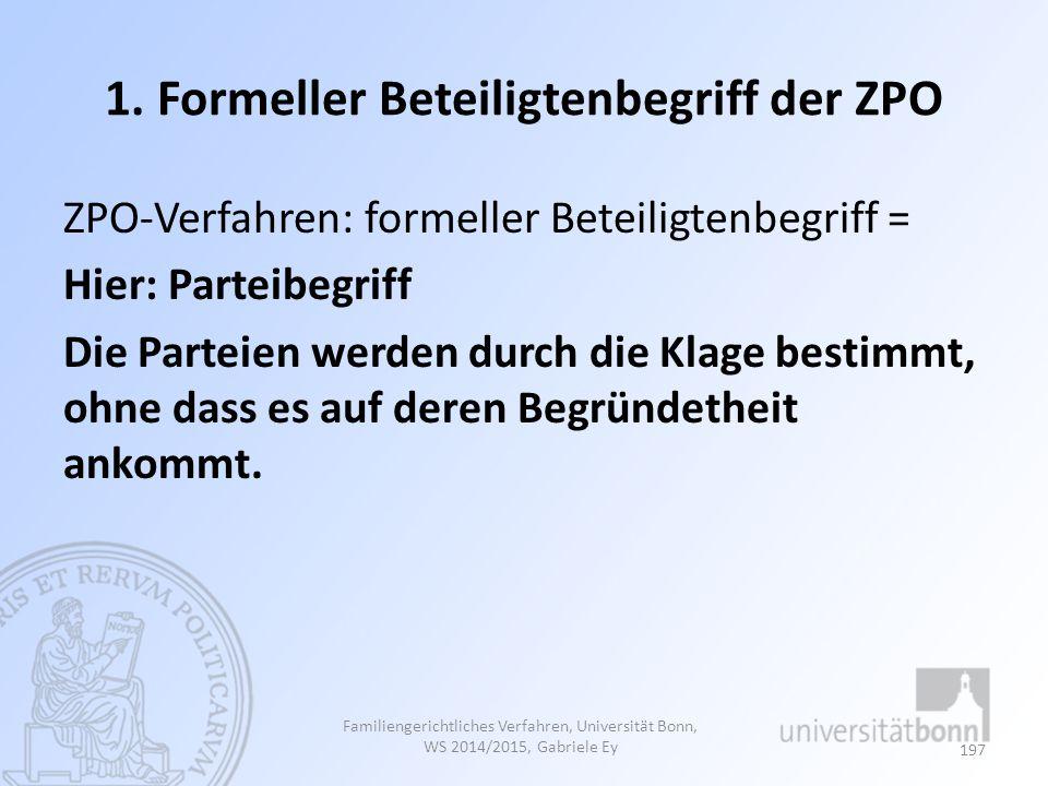 1. Formeller Beteiligtenbegriff der ZPO