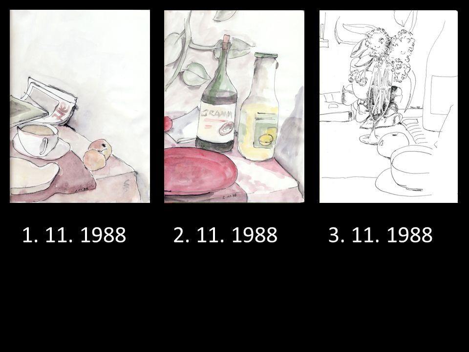 1. 11. 1988 2. 11. 1988 3. 11. 1988
