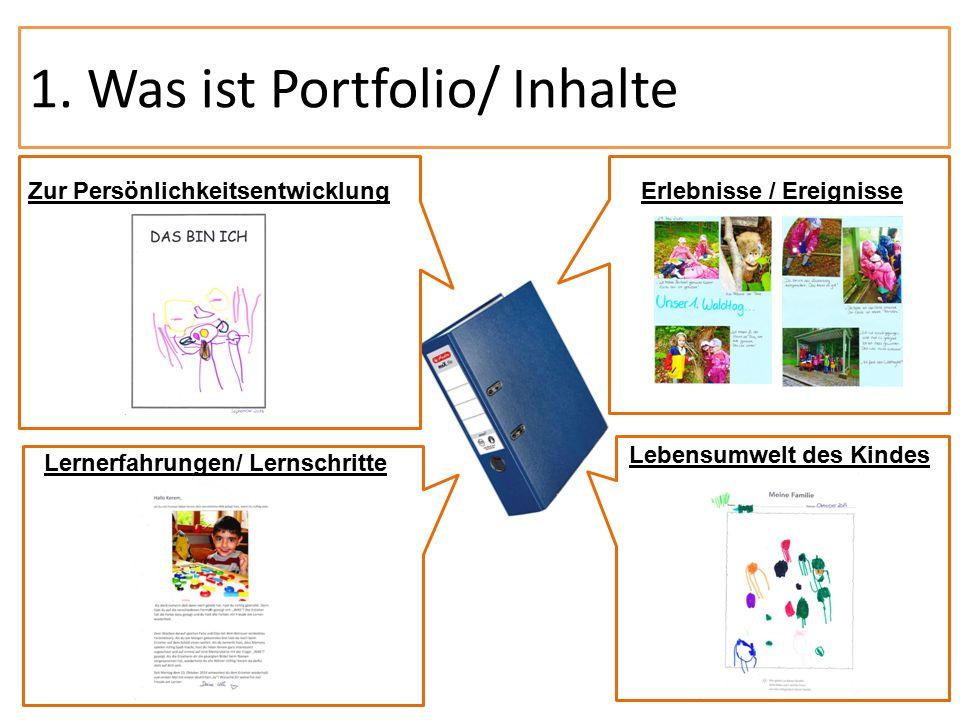 1. Was ist Portfolio/ Inhalte E