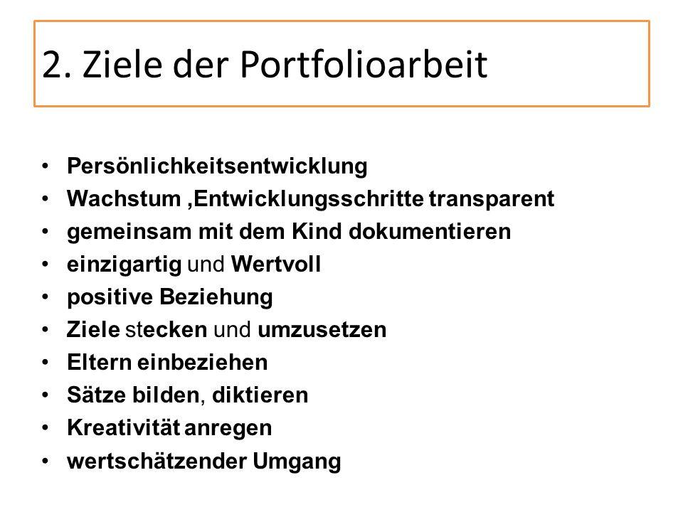 2. Ziele der Portfolioarbeit