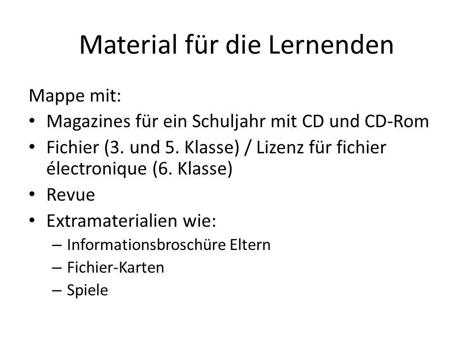 Material für die Lernenden