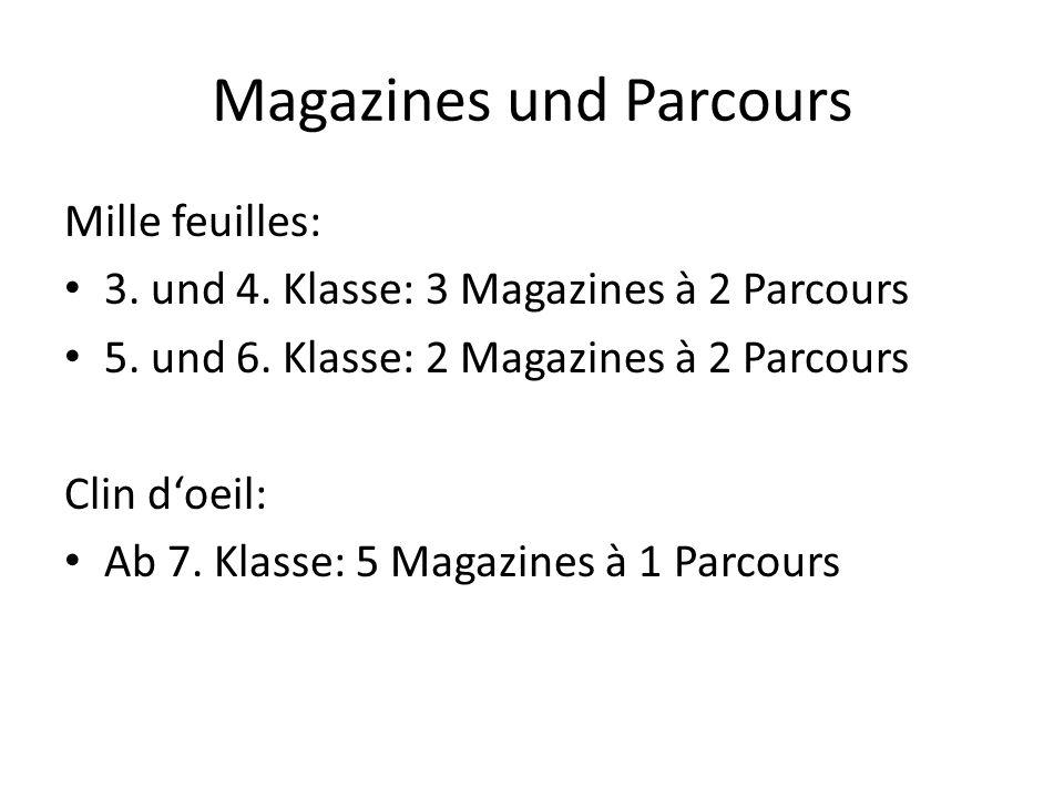 Magazines und Parcours
