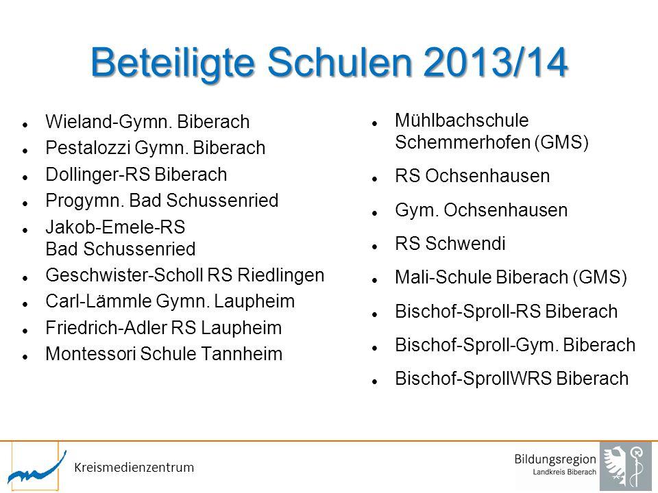 Beteiligte Schulen 2013/14 Wieland-Gymn. Biberach