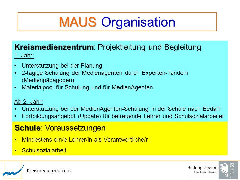 MAUS Organisation Kreismedienzentrum: Projektleitung und Begleitung