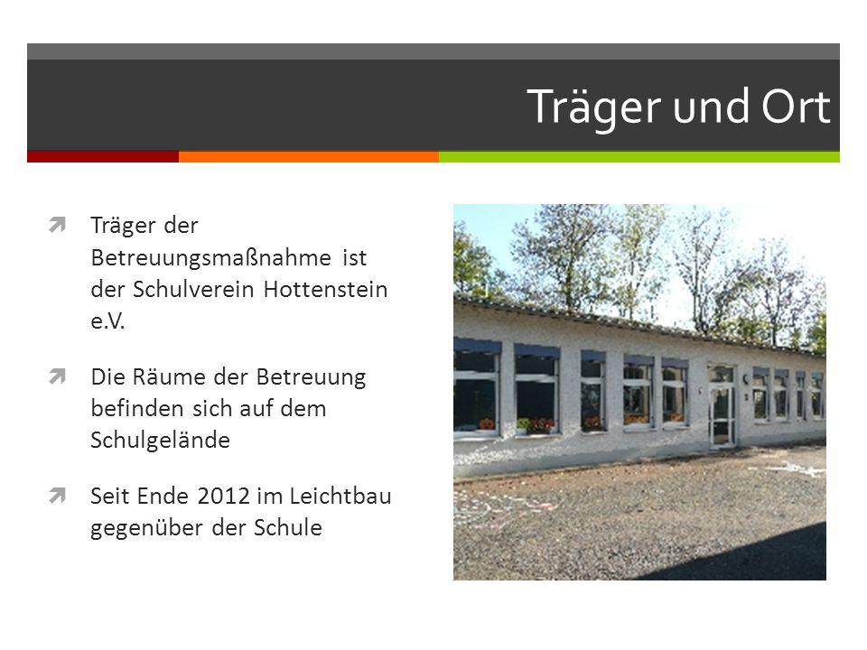 Träger und Ort Träger der Betreuungsmaßnahme ist der Schulverein Hottenstein e.V. Die Räume der Betreuung befinden sich auf dem Schulgelände.