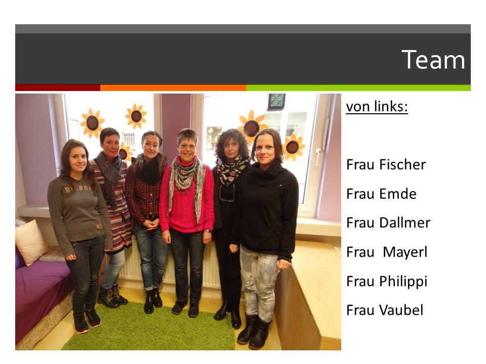Team von links: Frau Fischer Frau Emde Frau Dallmer Frau Mayerl