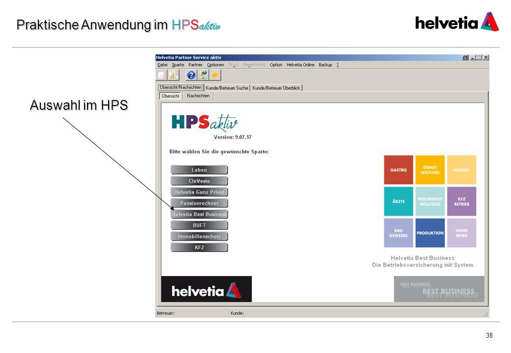 Praktische Anwendung im HPSaktiv