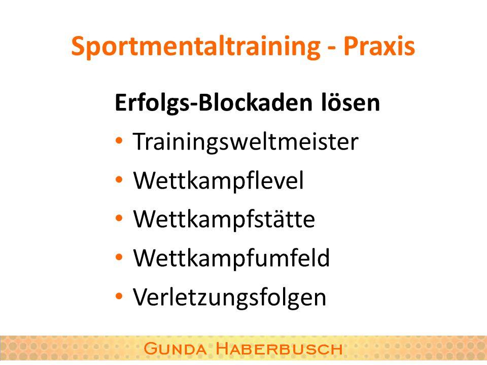 Sportmentaltraining - Praxis