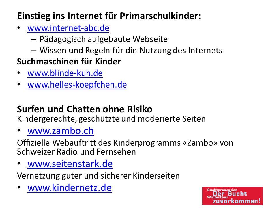 www.zambo.ch www.seitenstark.de www.kindernetz.de