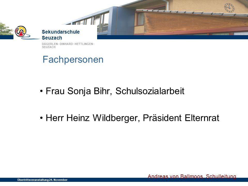 Fachpersonen • Frau Sonja Bihr, Schulsozialarbeit