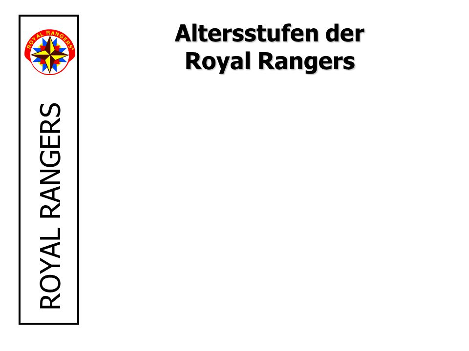 Altersstufen der Royal Rangers